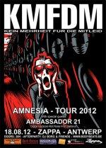 NEWS KMFDM - Amnesia Tour 2012 + Ambassador 21 @ Zappa - Antwerp