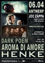 NEWS New Wave club night III with HENKE + Aroma Di Amore + Dark Poem @ Zappa