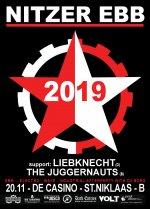 NEWS NITZER EBB + LIEBKNECHT + THE JUGGERNAUTS + 20.11 @ De Casino - St-Niklaas - B