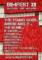 NEWS THE YOUNG GODS and ARBEID ADELT! headline BIMFEST 2013